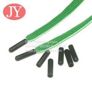 China 4.6*3.4*18 black shiny plastic tipping sport pants drawstring plastic cord washing no fade wholesale