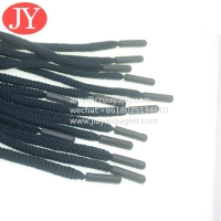 China manufacture hot sale round cotton string cord injection drawstring plastic tips free glue rope agelt tips wholesale