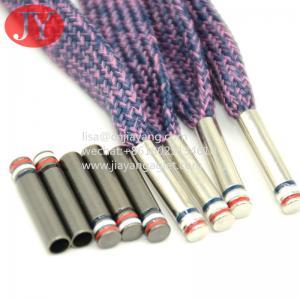 China 3 color enamle copper shiny silver color metal aglet copper end cap for cotton lace wholesale