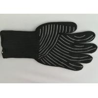 China Silicone Cooking Heat Resistant Gloves 500℃ High Temp Resistance Non Slip wholesale