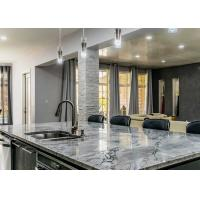 "China Natural Marble Polished Premade Kitchen Countertops 96""X26"" With Cabinet wholesale"