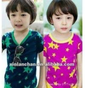 China little star popular children girl t-shirt,100% cotton on sale