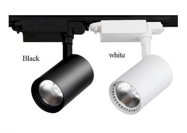 Quality Supermarket Cylinder COB LED Track Light 30 Watt With CREE Chip , 2700-6500K CCT for sale