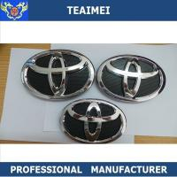 Quality 100% Waterproof Toyota Grill Badge Custom Car Emblems Red 150*105mm for sale