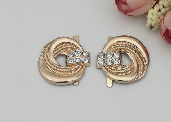 Quality LHZ1003 Zinc Alloy Buckle Different Sizes And Colors Womens Shoe Accessories for sale