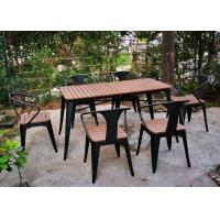 China Simple Modern Solid Wooden Outdoor Furniture Balcony Table Chair Set For Leisure Cafe Bar wholesale