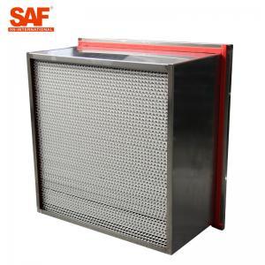 China Aluminum Cardboard High Temperature Hepa Filters Glass Fiber Filter Material on sale