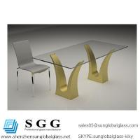 China Excellence quality customized size glass table top wholesale