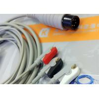 China Generic AAMI 6 Pin One Piece ECG Patient Cable 3 Leads For Patient Monitoring Equipment wholesale