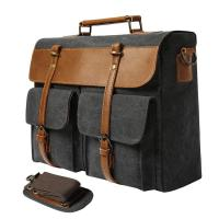 China Waxed Canvas Laptop Business Bag , Luxury Crossbody Shoulder Bags on sale