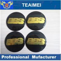 56mm BBS Car Sticker ABS Plastic Label Sticker With Glass Cement