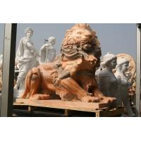 China Pink marble lions sculpture wholesale