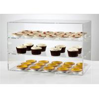 China Transparent Acrylic Display Showcase / Acrylic Bakery Display Bright Luster For Supermarket wholesale
