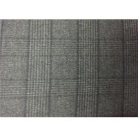 China 720G/M Charcoal Plaid Double Faced Wool Fabric For Coats , Double Weave Fabric wholesale