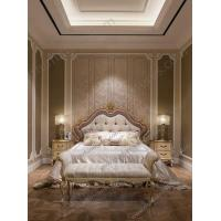 China 2016 New Design Dubai Furniture Classic Gold Hand Carved King Bed FB-168 wholesale