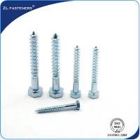 China DIN571 Zinc Coated, Carbon Steel, Full Thread Hex wood screw wholesale