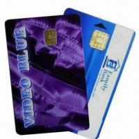 China PVC Contact Smart Chip Cards (Chip 4442), Measures 86x54x0.84mm wholesale