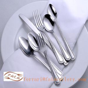 China Elegant Hotel Stainless Steel Tablespoon Dinner Spoon Set wholesale