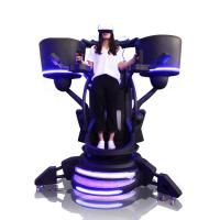 China 2000W VR Flight Simulator Games Fiber Glass With Metal Cool Flying Design on sale