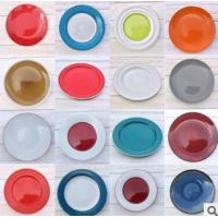China Exquisite  Stoneware Color Glazed Dinner Plate made in china for export with low price on  sale  and high quality  o wholesale