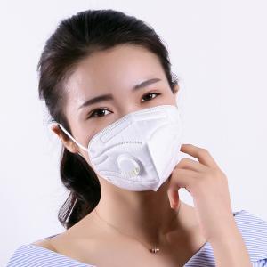China N95 Ffp2 Valved Dust Mask Vertical Folding Medical Respirator Mask Safe Type on sale