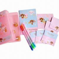 China Plastic Box Set with Notebook, Nite Writer Pen and Present Card wholesale