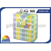 China High Grade Paper Gift Wrapping Bags for Baby Showers Packaging with Ribbon Handle wholesale