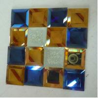 China bathroom spell mirrors glasses colorful glass mosaic decorative glass on sale