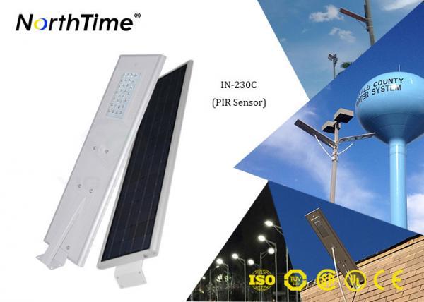 Quality Contrôle d'appli de téléphone 30W tout dans un réverbère solaire avec le panneau solaire 65W for sale