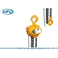 China Premium Quality Manual Lifting Equipment , Chain Pulley Hoist Double Pawl Brake wholesale