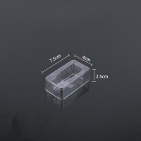 China Polygon Disposable 7.2x4x2.5cm Blister Packaging Tray on sale
