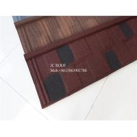 China Fire proof Stone Chips Coated Step Metal Roof Tile Aluminium Zinc Roofing Sheets wholesale