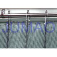 China Fireproof Silver Metal Mesh Curtains Metal Coil Drapery For Exhibition Blinds on sale