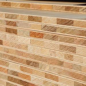 China Custom 17mm Pine Wood Block Board / Poplar Core Laminated Wood Blocks wholesale