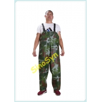 China FQY1904 Army-Camouflage PVC Safty Chest/ Waist Protective Working Fishery Men Pants wholesale