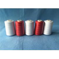 China Wear Resistant Polyester Core Spun Yarn 402 Count With Dyeable Pattern , Red Color on sale