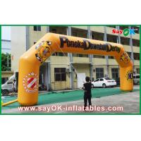 China Blower Waterproof Inflatable Arch 0.6mm PVC 11mLx4.5mH For Advertising wholesale