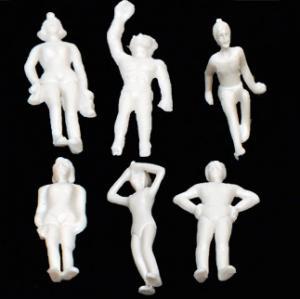 China Scale Model figure,layout mini human ABS swimming white figure PSW 1/50--1/150 wholesale
