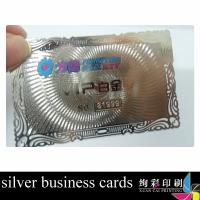 China Stainless Steel Custom Metal Business Cards , Electroplating Metal Statues Cards 0.36mm wholesale