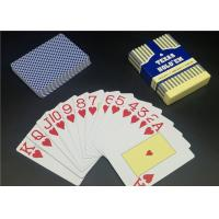 China 0.3 0.32mm Thickness Matt Varnish Casino Playing Cards Full color Plastic Material wholesale