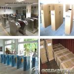 Waist Height Stainless Steel Bidirectional Flap Barrier Gate , RFID Car Automatic Flap Barrier