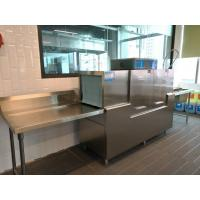 China Stainless Steel Rack conveyor dishwasher ECO-M190P2 for Guest House wholesale