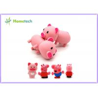 China Happy Big Family Pink Pig Customized Usb Flash Drive , Personalized Usb Key Cute Model wholesale