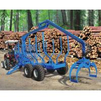 China Forestry Timber Log Trailers with Hydraulic Crane Machines for Sale on sale