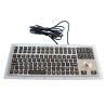 China Black Ruggedized Industrial Metal Keyboard 116 Keys IP67 Waterproof With Trackball wholesale
