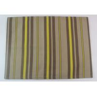 100% Cotton Printed Stripe 250gsm Canvas Dining Table Mats for Home