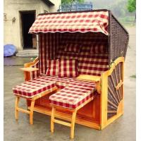 China Waterproof Wooden Beach Chair & Strandkorb , Two Seat Beach Chair on sale