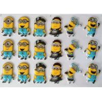 China Small Yellow Man Cartoon PET Chocolate Transfer Sheets For Cake Decorating on sale