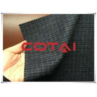 China Small Blue and Yellow 1cm Plaid / Tartan Wool Fabric Autumn / Winer Suit Blazer Fabric wholesale
