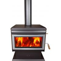 17KW Indoor Wood Burning Furnace , Wood Burning Heaters With Fire Brick